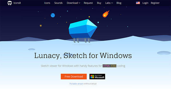 Visualizar archivos de Sketch en Windows con Lunacy