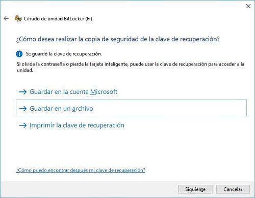 Proteger USB con contraseña en Windows 10