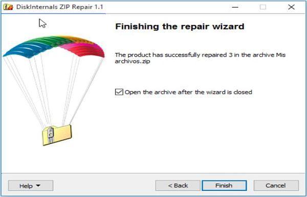 Reparar archivos ZIP dañados con  Zip Repair