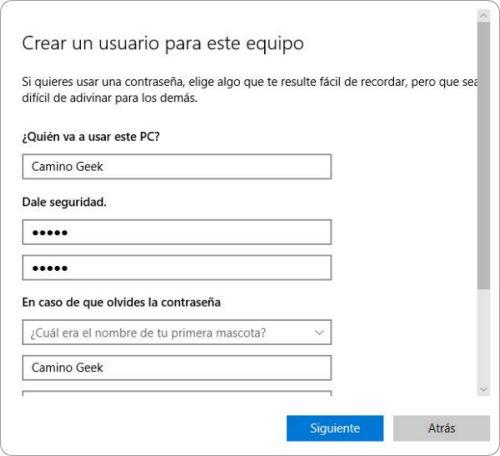 Cómo crear un nuevo usuario en Windows 10