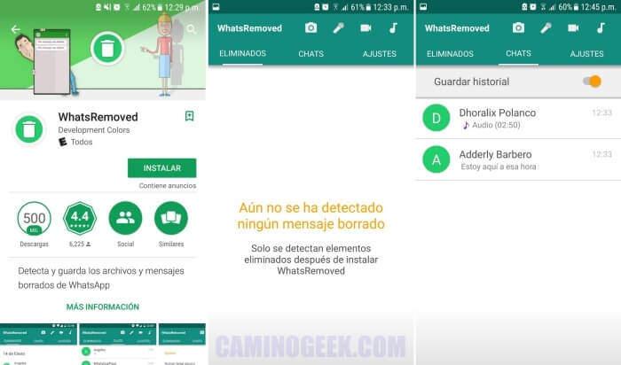 Cómo recuperar mensajes de WhatsApp eliminados por el remitente en Android
