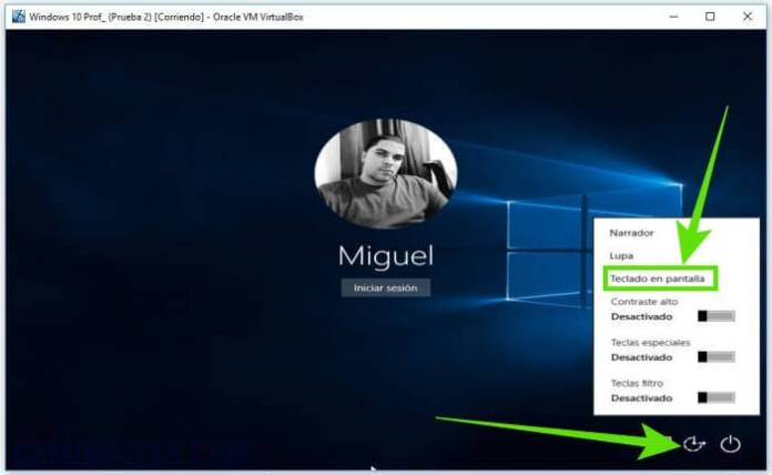 Cómo iniciar sesión en Windows sin el teclado físico