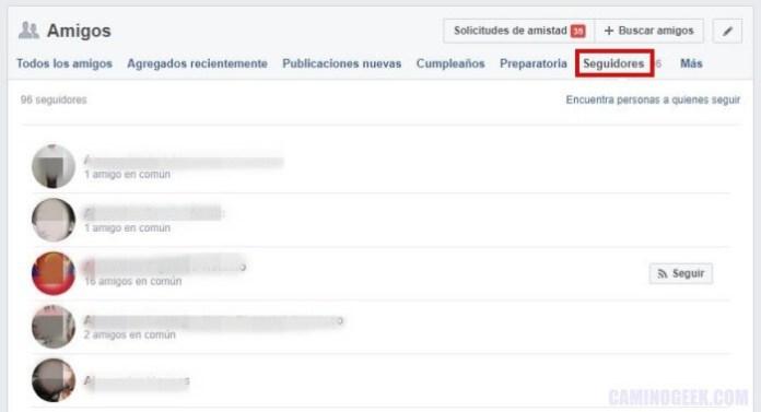 Cómo saber quién te sigue en Facebook