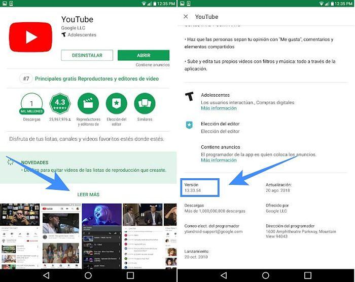 33 formas de saber la versión de una aplicación instalada en tu dispositivo Android