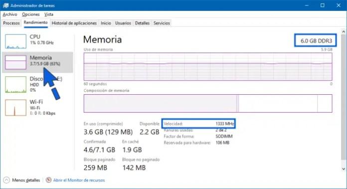 Cómo saber si mi memoria RAM es DDR3 o DDR4