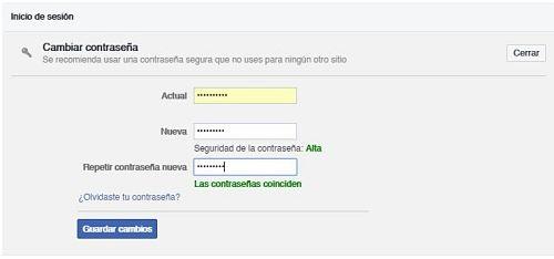 Cerrar sesión en Facebook de forma remota