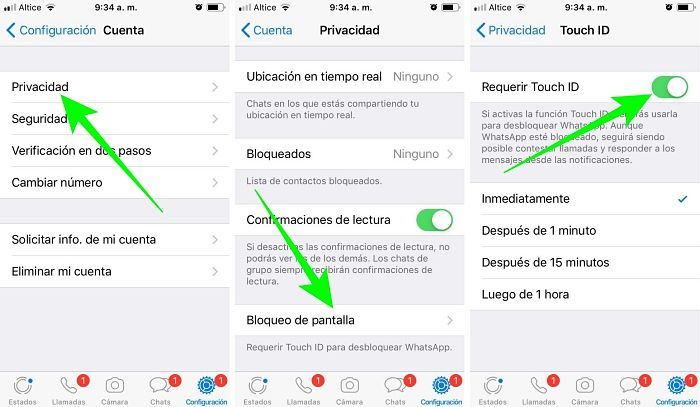 Cómo bloquear WhatsApp en iPhone con Touch ID o Face ID