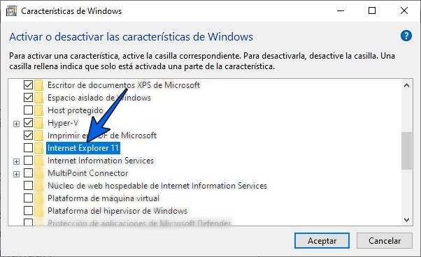Cómo desinstalar Internet Explorer