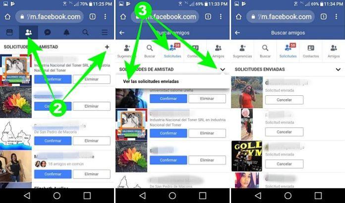 Entrar a Facebook a través del navegador en el teléfono