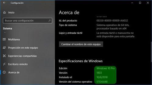 Cómo saber que versión de Windows 10 tengo en mi computadora.