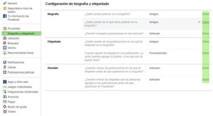 Poner tu Facebook privado