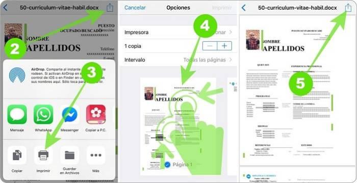 Crear PDF en iPhone