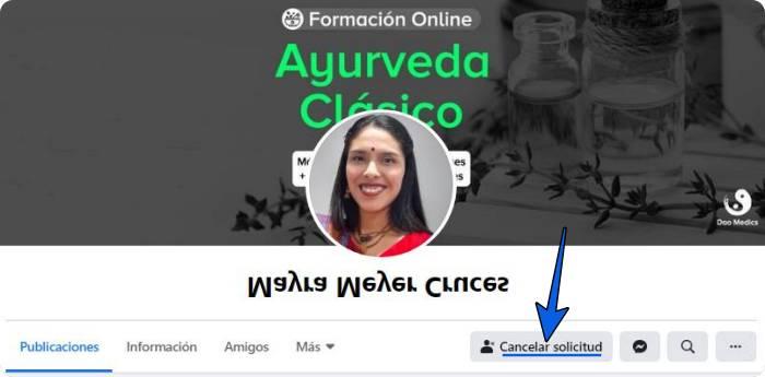 Borrar solicitudes de Facebook