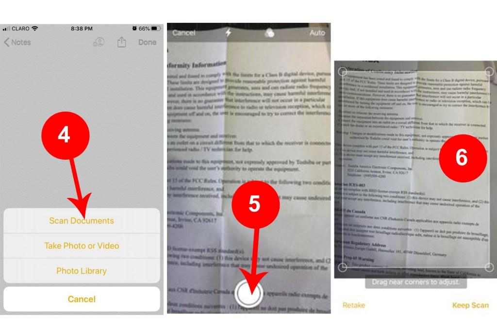 Cómo usar el iPhone como scanner