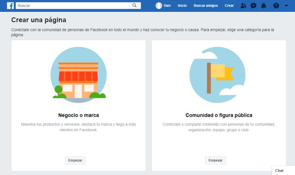 Cómo crear páginas de Facebook