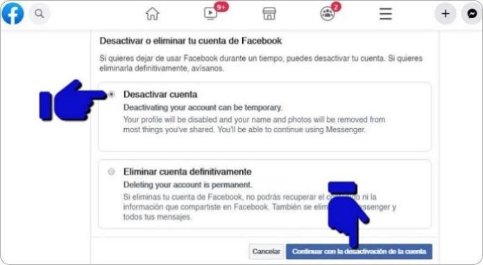 Cómo cerrar Facebook temporalmente