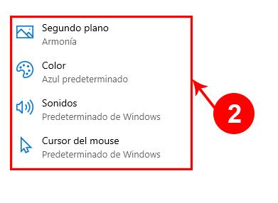 Cambiar de tema en Windows 10