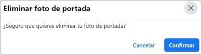Eliminar foto de portada de Facebook.