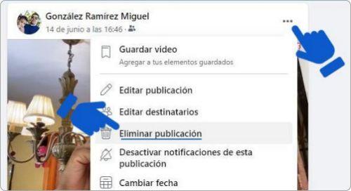 Cómo eliminar publicación de Facebook