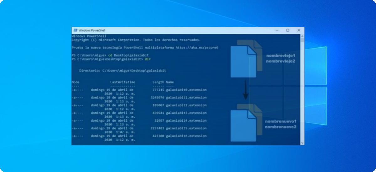 Cómo renombrar archivos con Símbolo del sistema y PowerShell