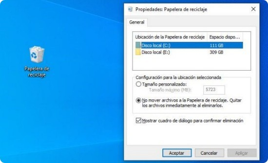 Cómo borrar archivos definitivamente de mi PC sin pasar por la Papelera.