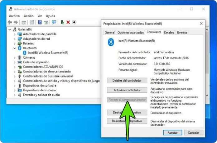 El dispositivo Bluetooth no funciona en Windows 10.