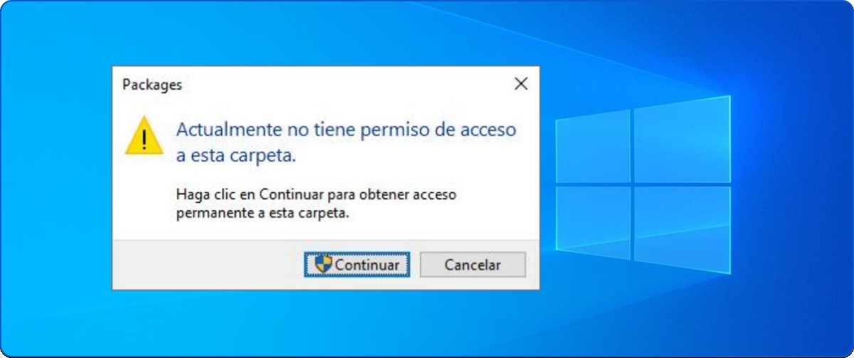 Actualmente no tiene permiso de acceso a esta carpeta en Windows 10