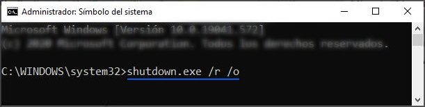 Cómo entrar a opciones avanzadas en Windows 10.