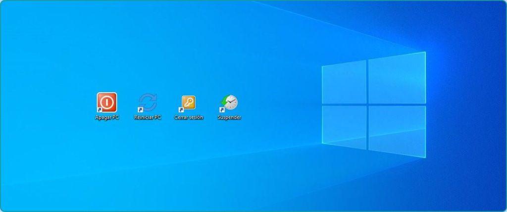 Acceso directo y atajo de teclado para apagar PC Windows 10