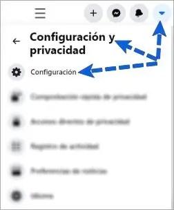 Entrar a la configuración de FB
