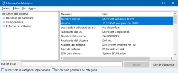Información del sistema: Cómo saber que sistema operativo Windows tengo.