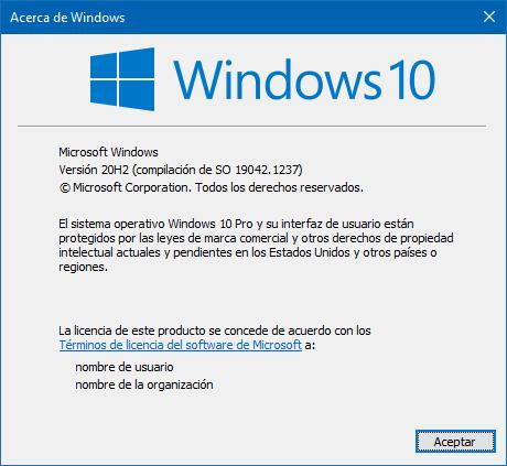 Acerca de Windows: saber que versión tiene mi PC.