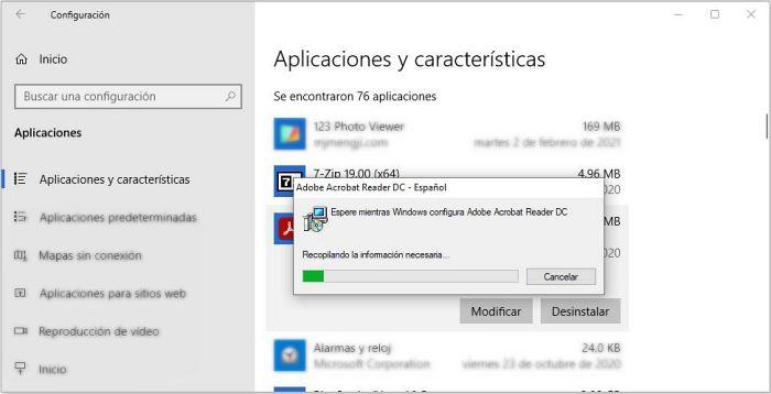 Cómo desinstalar una aplicación en Windows 10