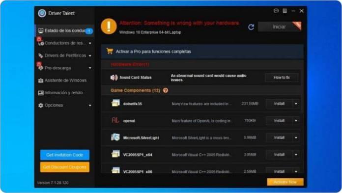 Driver Talent es un actualizador de controladores excelente para Windows.