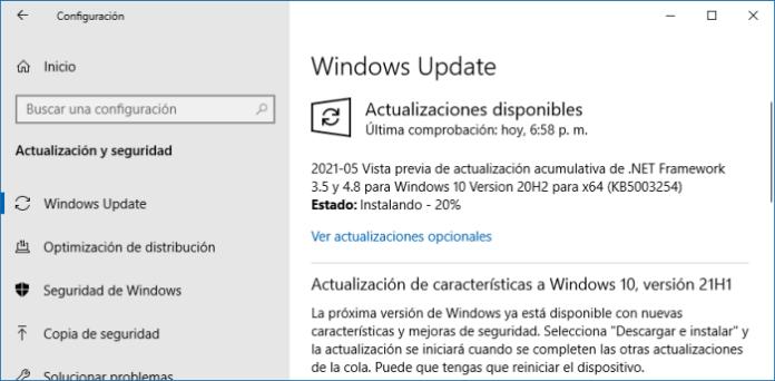 Actualizar el sistema si no te abre el menú Inicio en Windows 10