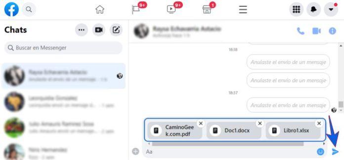 Enviar documentos por Messenger en PC