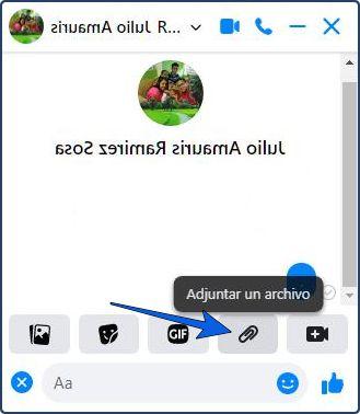 Cómo enviar un documento por Facebook Messenger