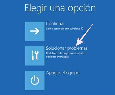 Restaurar Windows 10 de fábrica desde el arranque