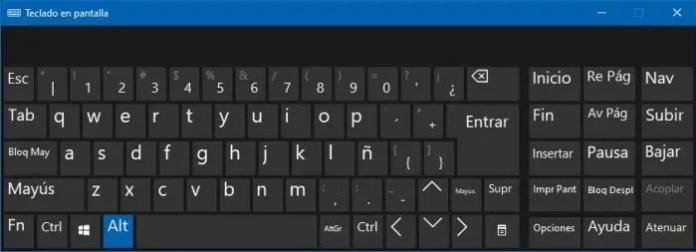 Teclado en pantalla, virtual y táctil en Windows 10