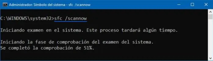 Escanear y reparar archivos corruptos del sistema si Windows Defender no se activa