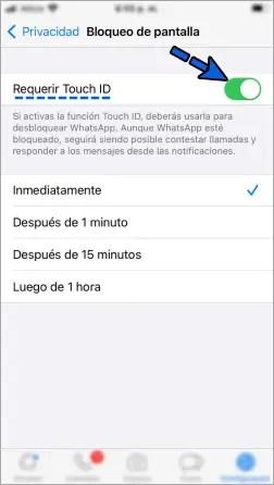 Cómo ponerle contraseña a WhatsApp en iPhone