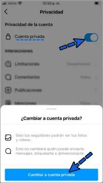 Cómo poner cuenta privada en Instagram