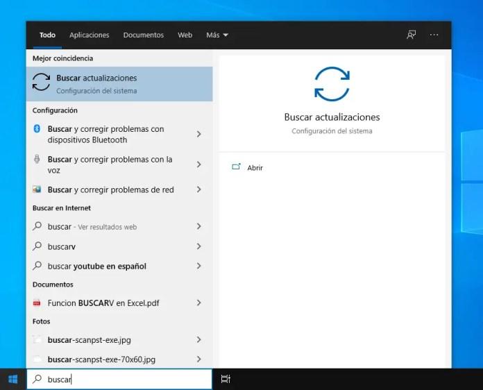Buscar actualizaciones de Windows