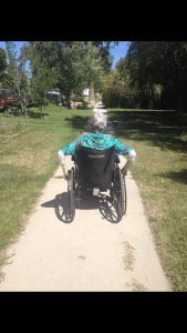 Mom Rides Into the Sunset in her Wheelchair