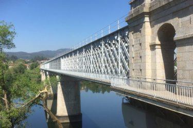Broen mellem Valença og Tui - mellem Portugal og Spanien