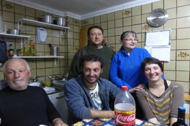 Dag 20 - The Family med vores hyggelige værtspar i Bercianos del Real Camino - privat herberg