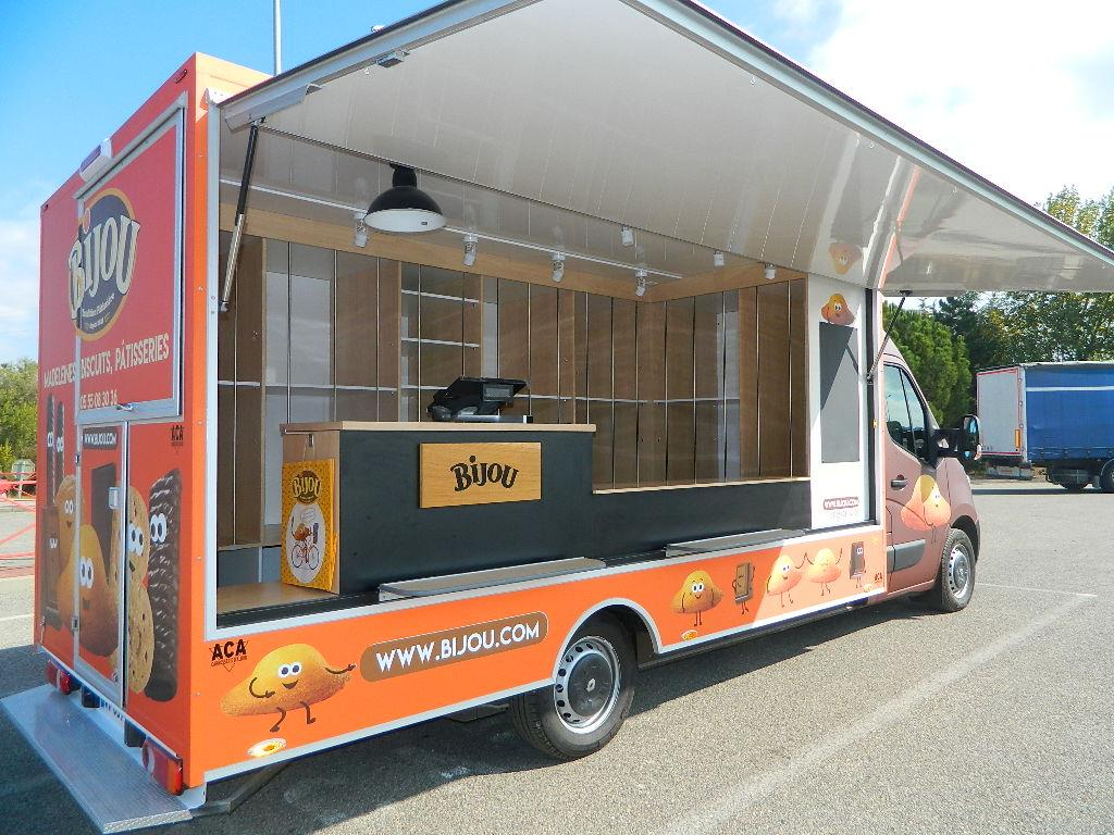 Camion Vehicule Magasin Boulangerie Patisserie Camion Magasin Remorque Cellules