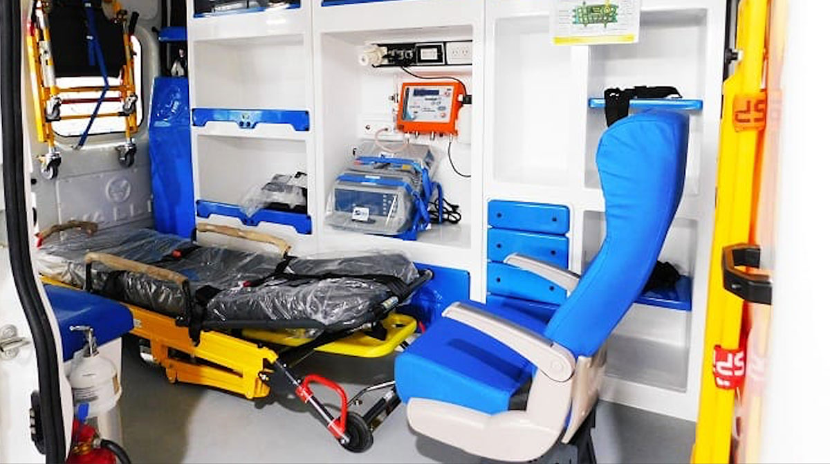 interior ambulancia
