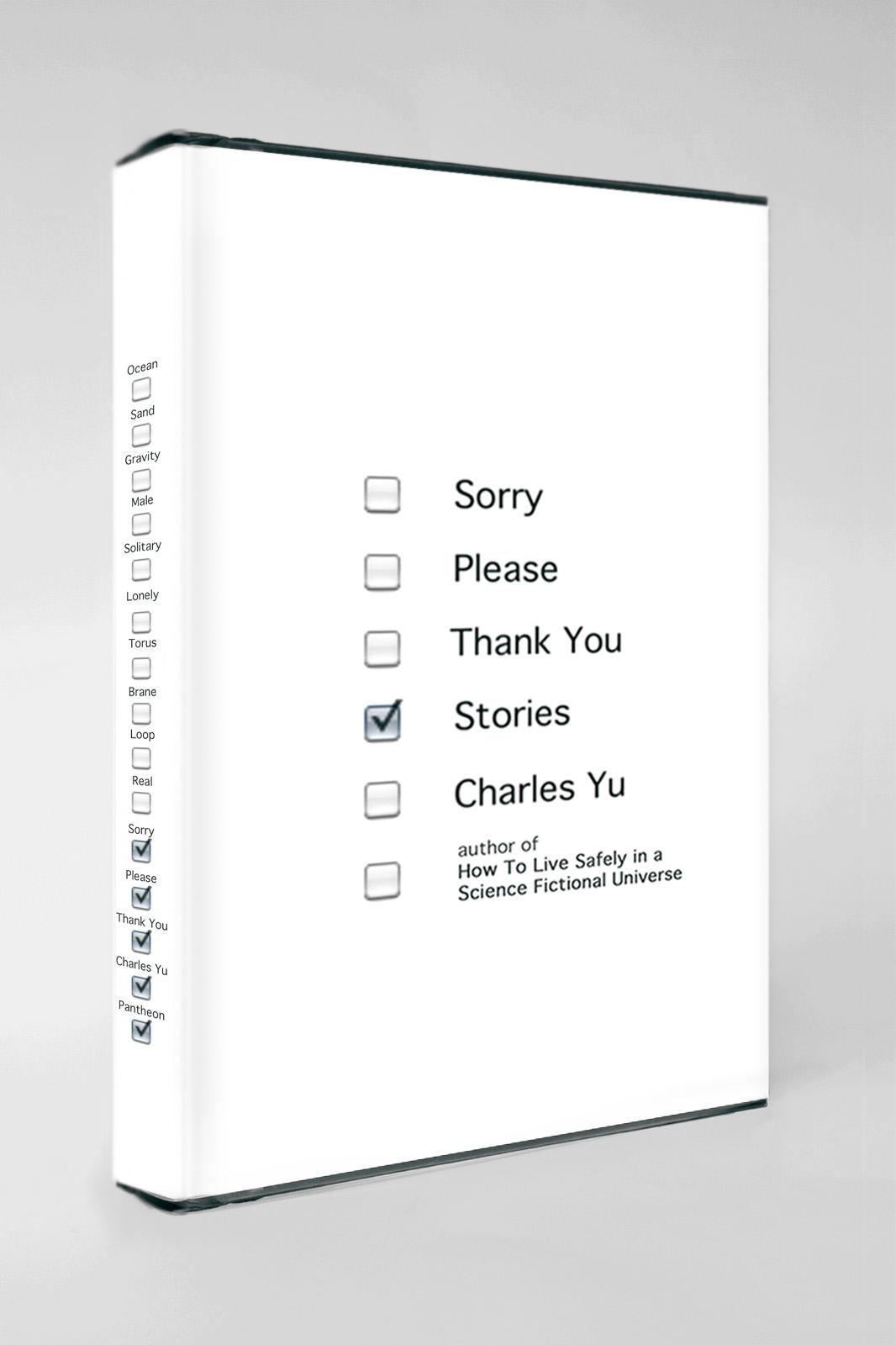 """""""Stories"""" Charles Yu (diseño de cubierta por Peter Mendelsund)"""