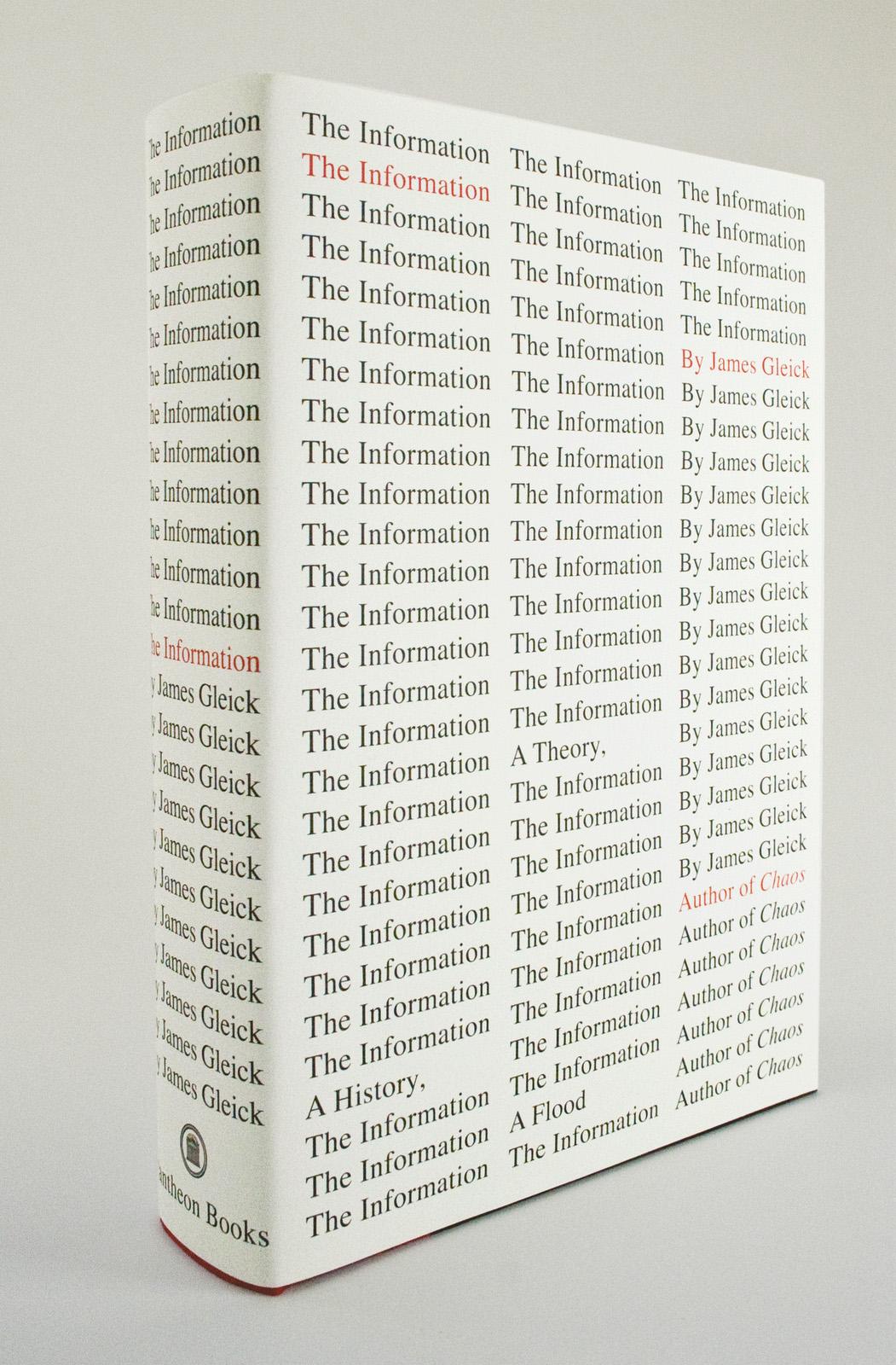 """The Information"" James Gleick (diseño de cubierta por Peter Mendelsund)"